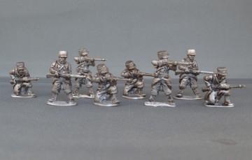 French infantry firing line