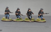 BNC02 Belgian carabiniers advancing colour photo