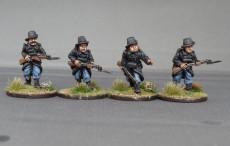 Belgian carabiniers advancing