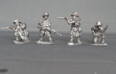 Belgian carabiniers firing line