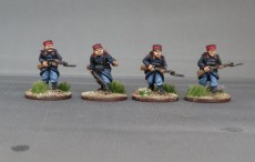Belgian grenadiers advancing