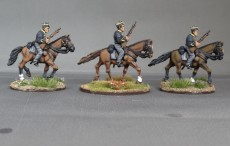 Belgian Lancers with carbines horses trotting