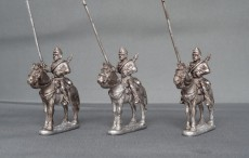 Belgian lancers,lance upright horses stood