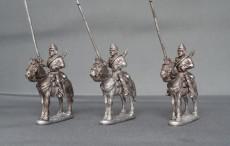 Belgian lancers,lance upright horses stood
