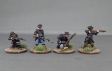 Belgian infantry in Yser cap Firing line