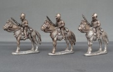 Belgian Chasseurs a Cheval with carbines horses stood
