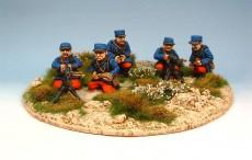 French Hotchkiss machine gun section