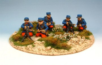 French Hotchkiss machine gun section