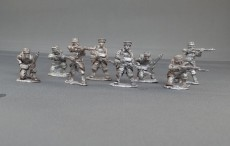 Belgian grenadiers firing line