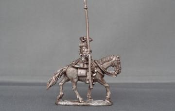 Mounted standard bearer Horse trotting