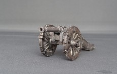 French field gun with scrolled barrel