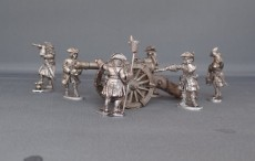 French Field gun with scrolled barrel and crew