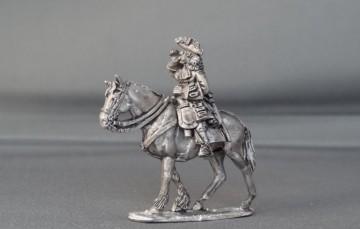 General Officer on walking horse shouting WSSGOF02