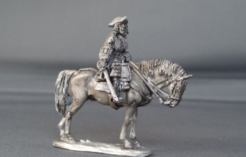 General officer on standing horse sword down WSSGOF04