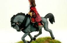 General officer on trotting horse waving hat WSSGOF09