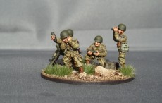 28mm US Para's Mortar Team
