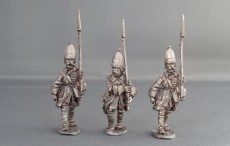 GNW Swedish Grenadiers in tall cloth mitre marching GNWGTM01