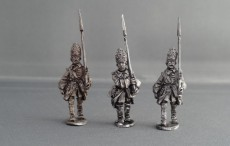 GNW Swedish grenadiers in Brass fronted mitre marching GNWGBMM03