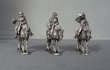 WSS Cuirassier Command in German Helmets horses stood WSSCC01