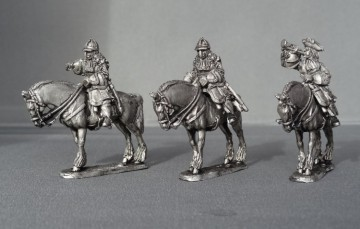 WSS Cuirassier Command in German Helmets horses stood WSSCC02