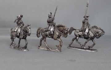 Cuirassier command in Floppy hats charging GNWCC01