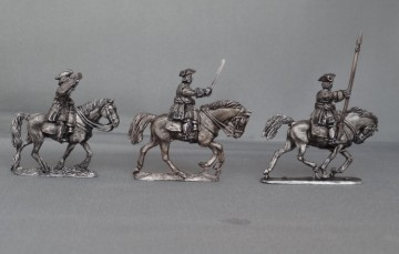 WSS Cuirassiers in Tricorns Command charging WSSCCTC01